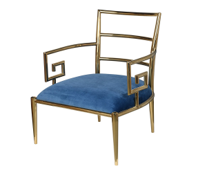 silla-butaca-azul-dorada